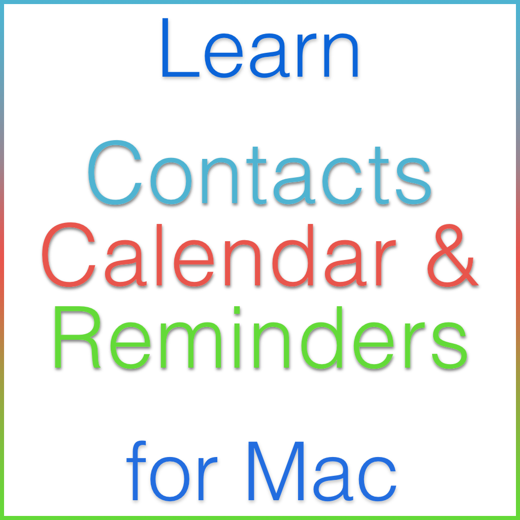 Contacts, Calendar & Reminders for mac Tutorial Image