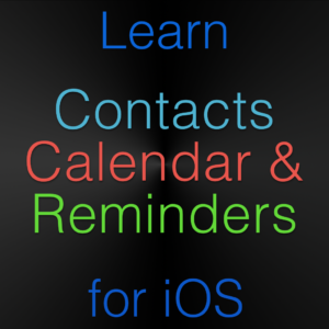 Contacts Calendars Reminders iOS Tutorial