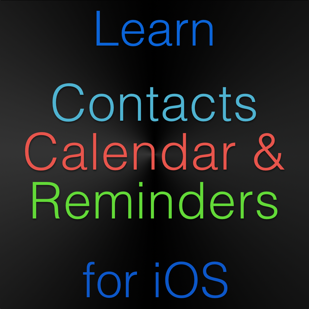Contacts, Calendar & Reminders for iOS Tutorial Image